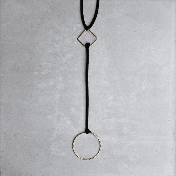 ROUND SQUARE CHOKER | silver